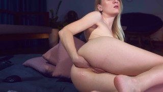 Teen Girl tries Anal Fisting & Anal Prolapse Solo MashaYang