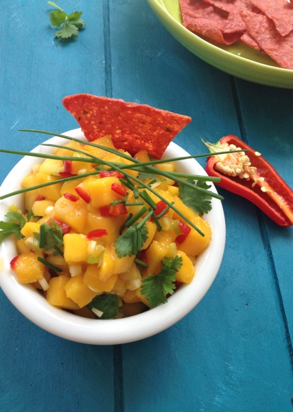 peach and mango salsa