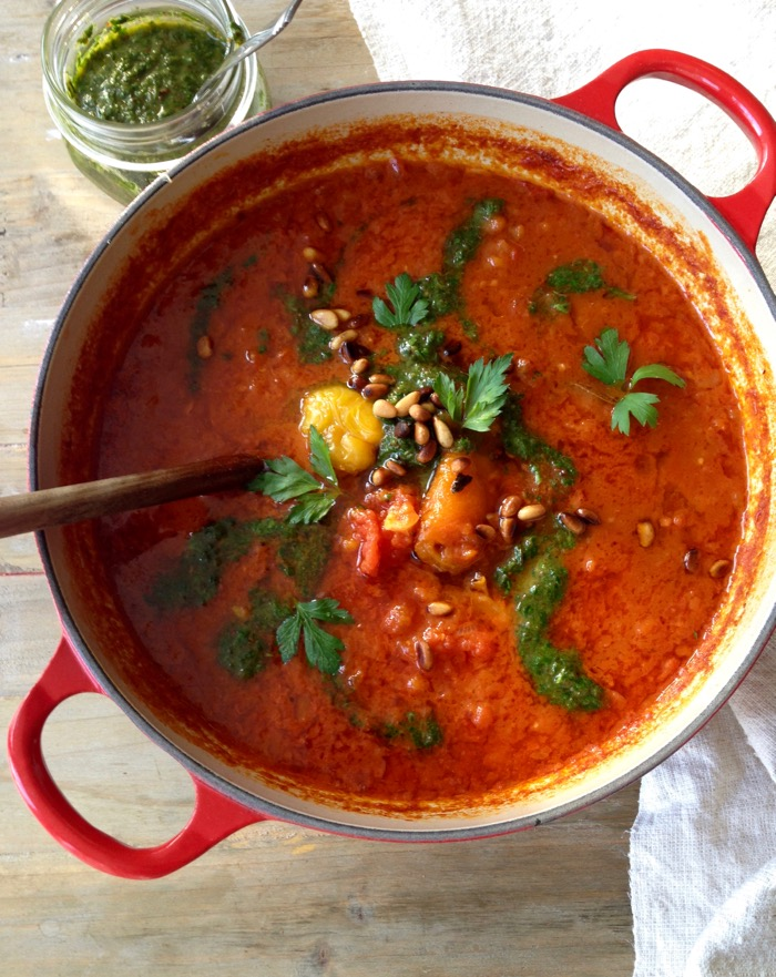 Roasted red pepper tomato soup recipe ciao florentina for Roasted pepper tomato soup