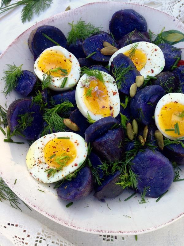 Purple Potato Salad Recipe - Ciao Florentina