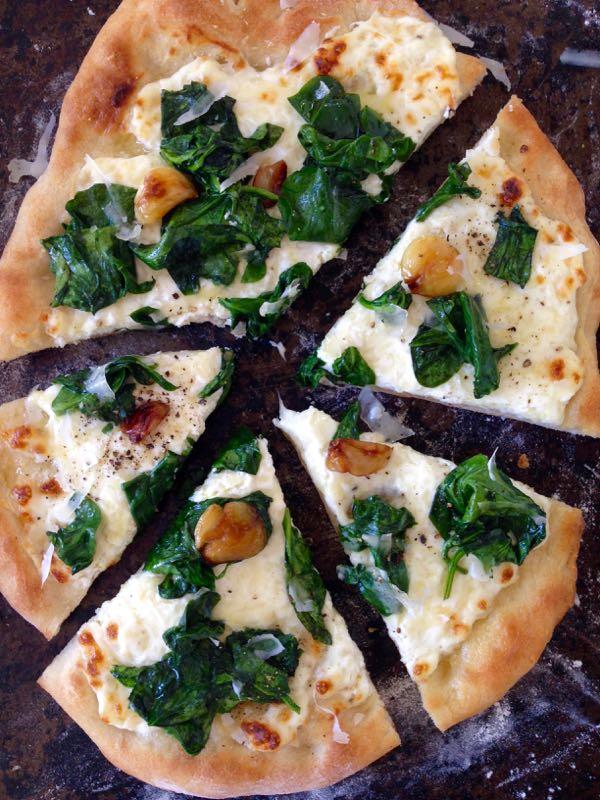 Ricotta Spinach Pizza Recipe