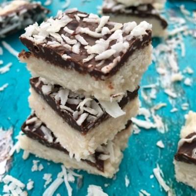 Chocolate Covered Coconut Bars Recipe