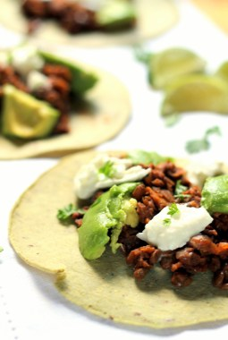 These vegetarian tacos come together in under 30 minutes and are sure to impress!