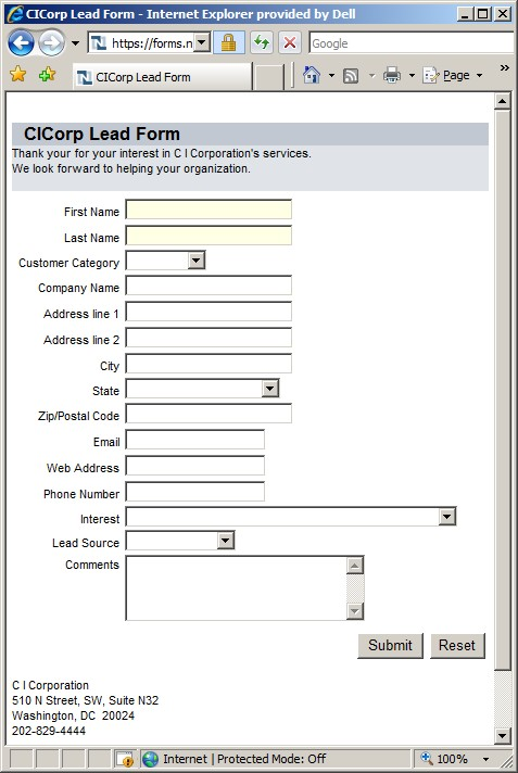 How to Make a Web Based Form For Capturing New Customer Information