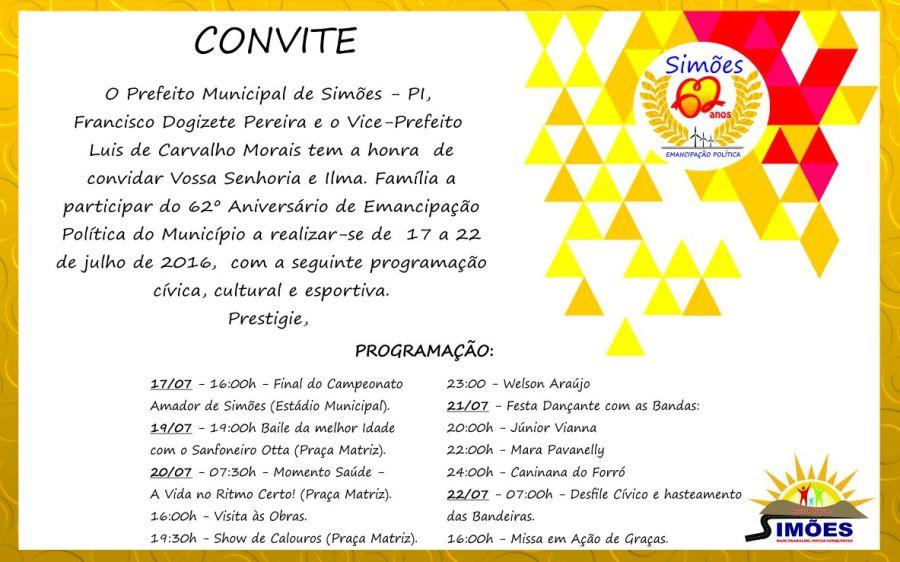 Convite Simões