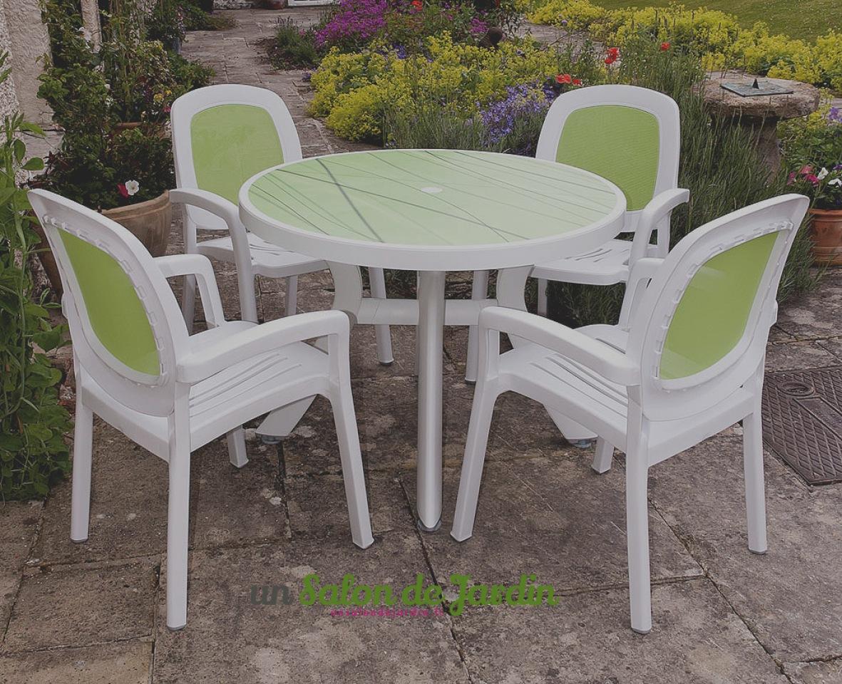 Table De Jardin Plastique Blanc | Salon De Jardin En Résine à Prix ...