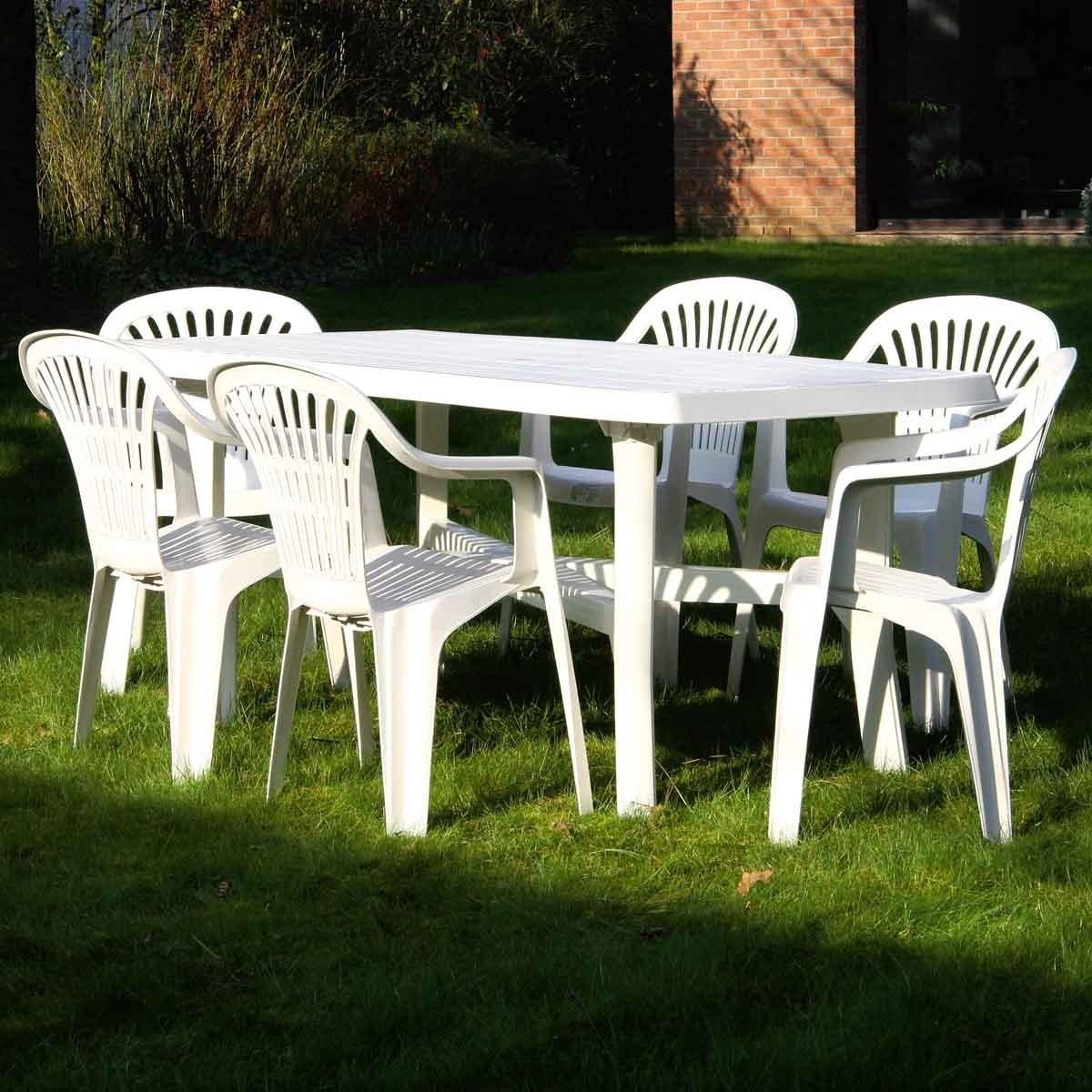 Tables De Salon De Jardin En Pvc