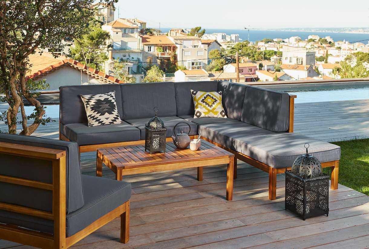 Unopiu Salon De Jardin | Design Coussins Table Jardin Mobilier ...