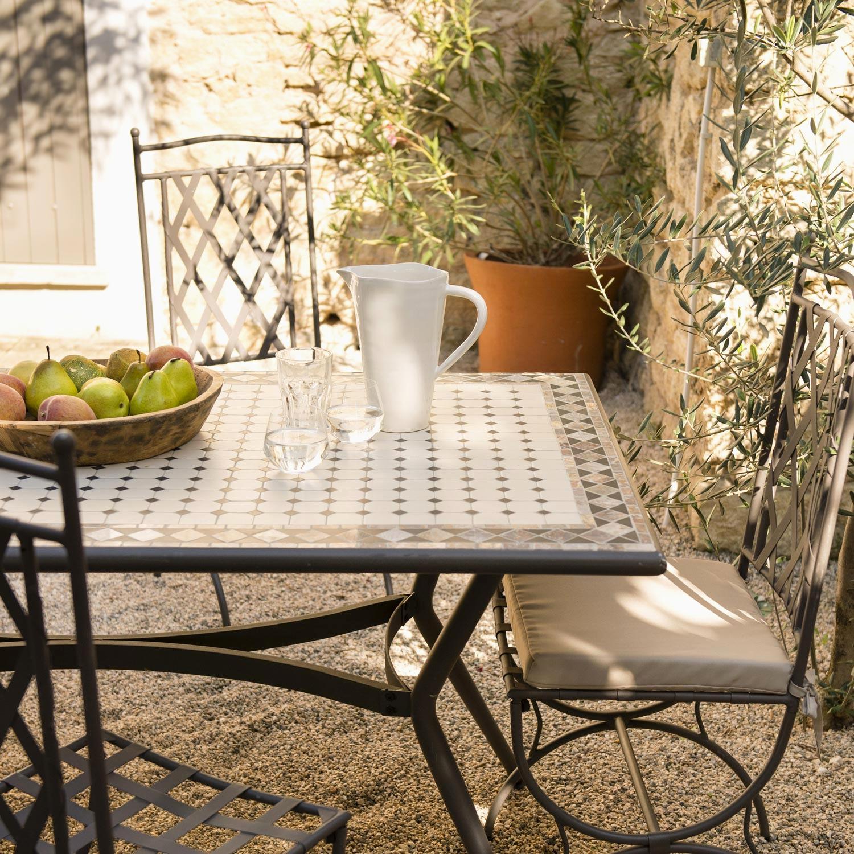 Salon De Jardin Table Ronde Mosaique | Table De Jardin Mosaique ...
