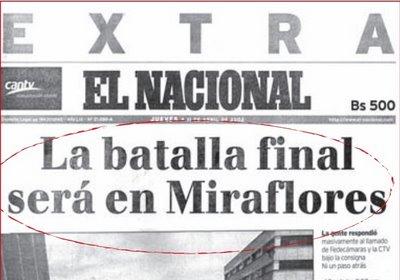 Titular El Nacional 11 Abril 2002