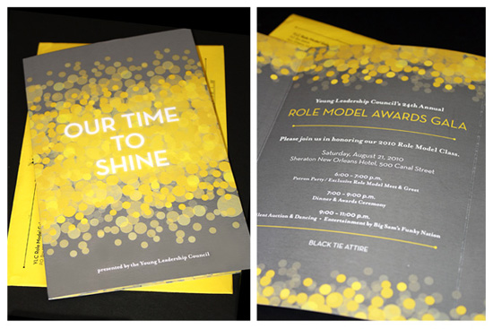 YLC Role Model Gala – Invitation Design