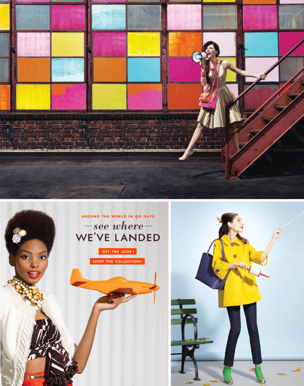 Kate Spade Branding Collage