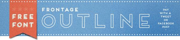 Frontage Font [Friday Favorites]