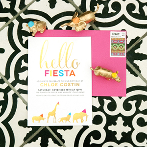 Hello Fiesta Party Invitation