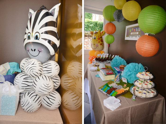 Aninal Themed Birthday Party Zebra Balloon