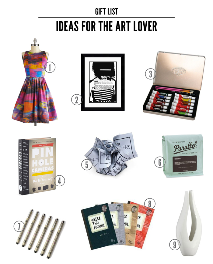 art lover gift round up
