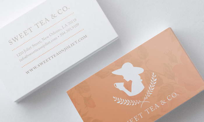 Sweet Tea Business Card Front and Back