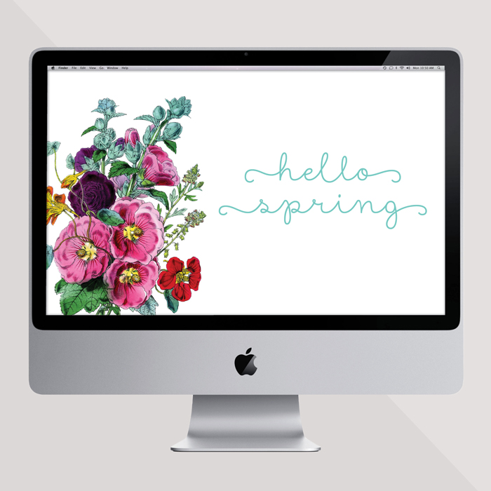 Hello Spring Desktop Freebie From Ciera Design