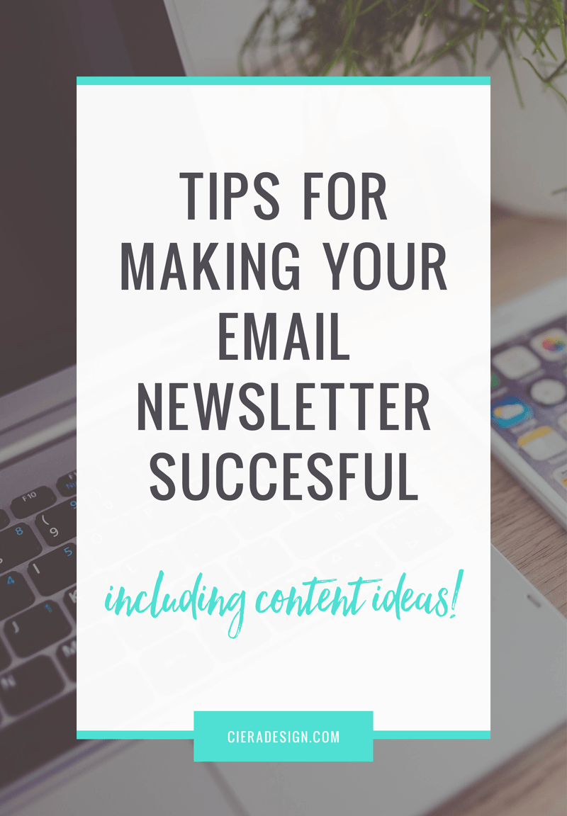 An email newsletter is a tricky thing when you own a small business. While having an email list and sending out emails on a regular basis keeps you top of mind to your subscribers, knowing what you should send out and how frequently is a question that many small business owners struggle with. Click through to get some tips and content ideas!