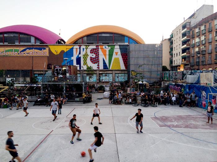Madrid Spain El Campo de Cebada Basketball