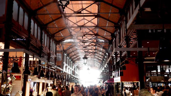 Madrid Spain Mercado de San Miguel Ceiling