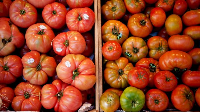 Madrid Spain Tomatoes Mercado de San Miguel