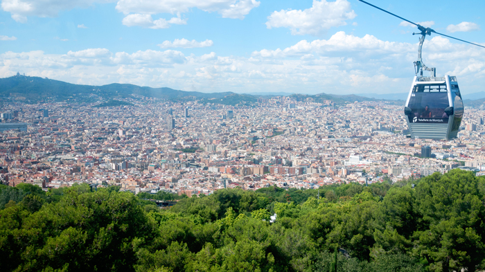 Cable-Car-Montjuic-Mountain-Barcelona-Spain