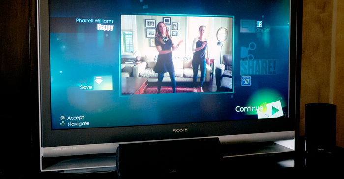Playing Just Dance 2015