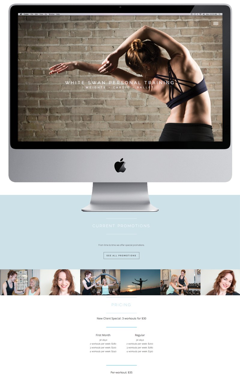 Personal Trainer Photo Based Web Design
