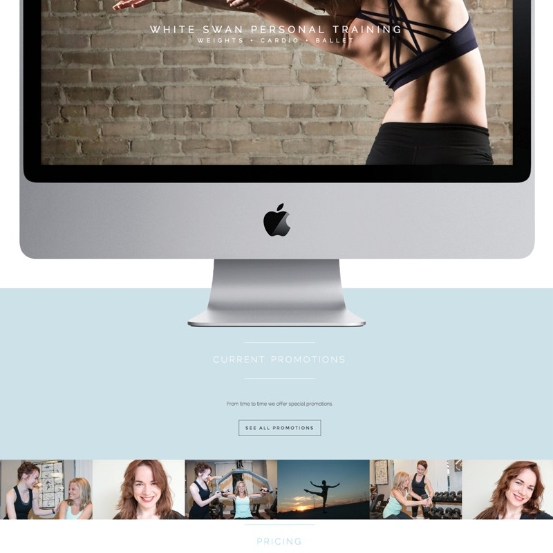 Design Portfolio: White Swan Personal Training Website