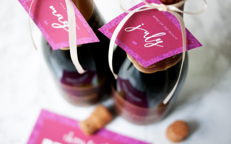 Wine of the Month Free Mother's Day Printable Card and Tags