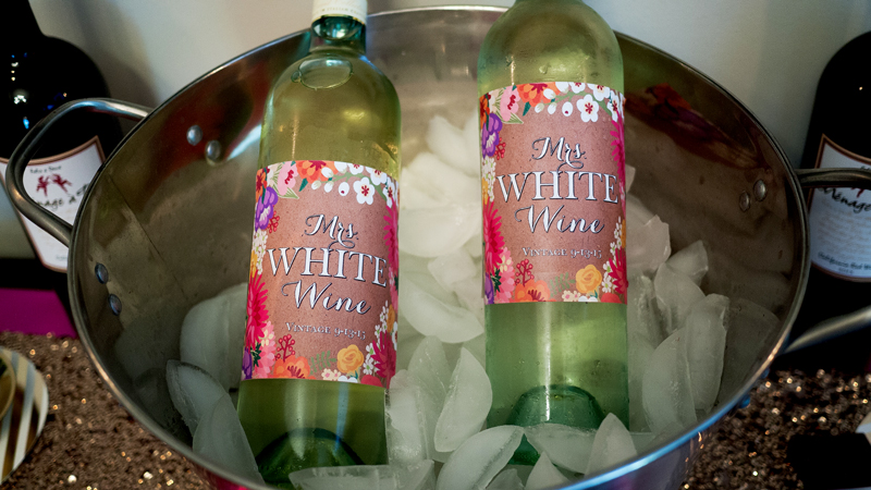 Custom Floral Wine Labels