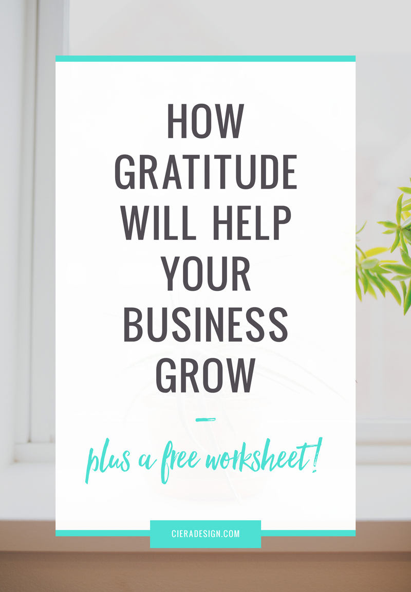 The importance of gratitude and how it will help your business grow! Click through to download the worksheet to keep track of all those people who helped you out this year!
