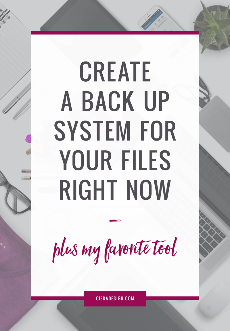 Set up a computer backup system now! Click through to see my favorite tool!