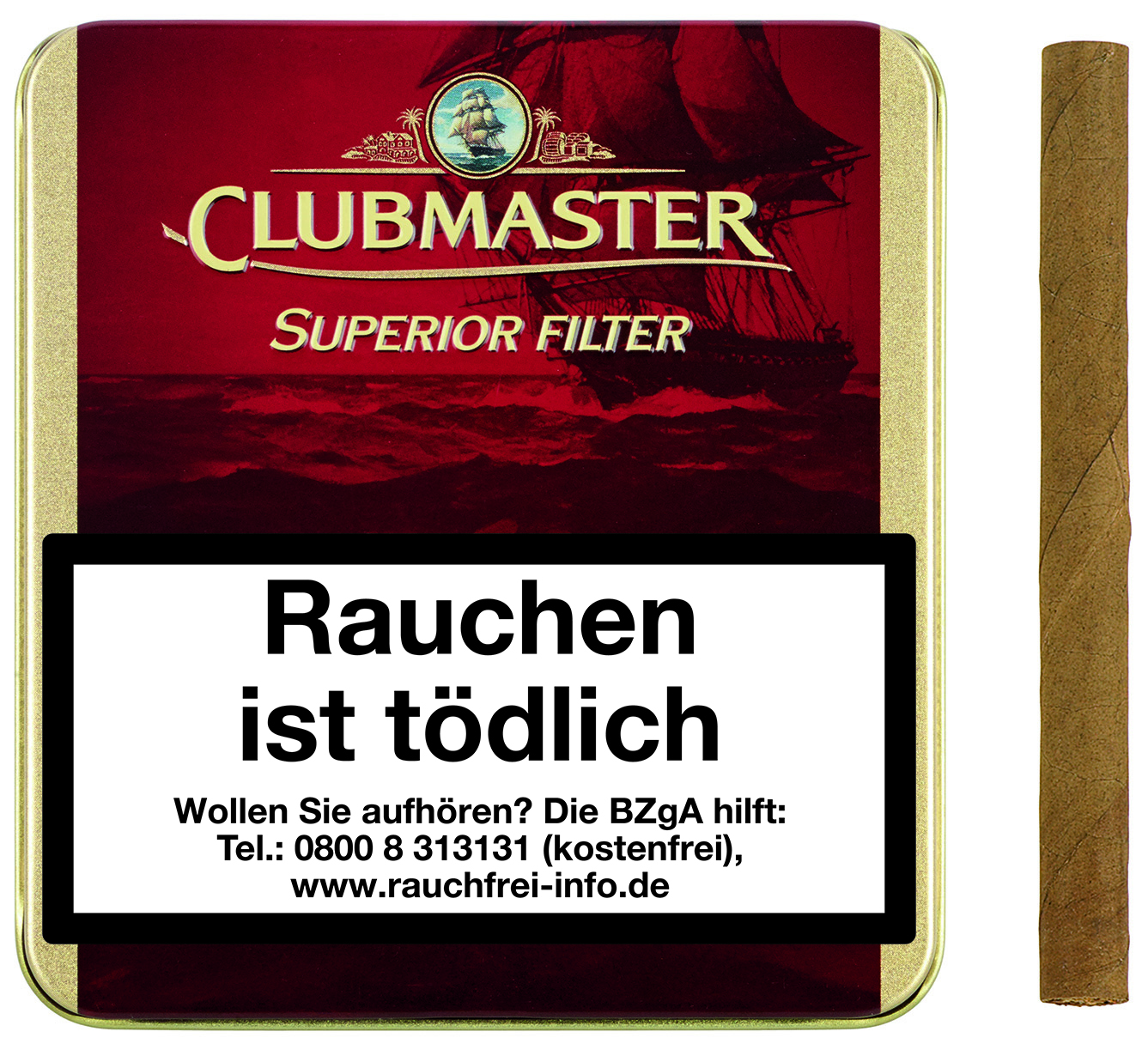 Kauf 24 De Cigarrenversand24 Clubmaster Superior Filter Red Vanilla