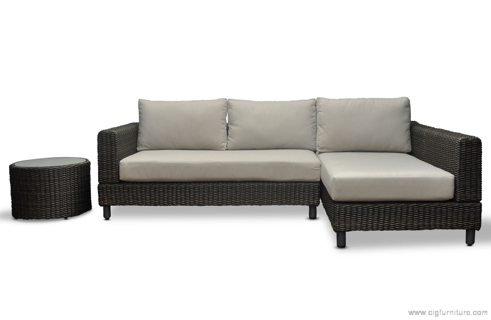 Large Modular Lounge Wicker Outdoor Modular Corner Sofa Chaise Patio Lounge