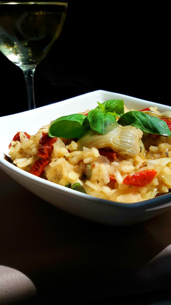 Artichoke and Sun-Dried Tomato Risotto | 100% vegan recipe