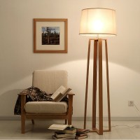 Wood Floor standing lamp for living room/ reading floor ...