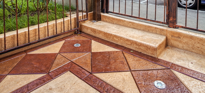How To Recolor Stamped Concrete Patios That Faded