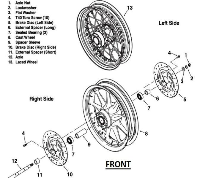 harley davidson rear wheel assembly diagram