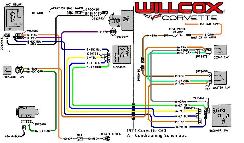 1974 Corvette Ac Wiring 1978 Corvette Wiring Chart - Wiring Diagrams
