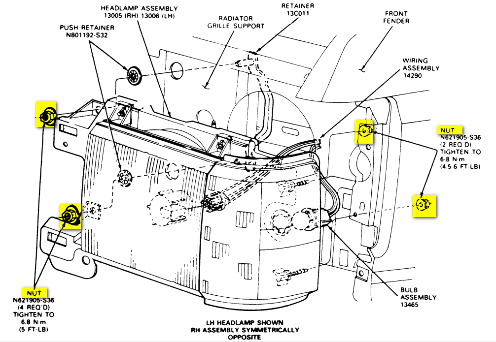 this seems to be the headlight wiring diagram again for