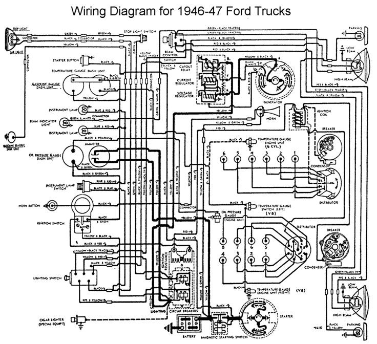1946 Ford Car Color Wiring Diagram Get Free Image About Wiring