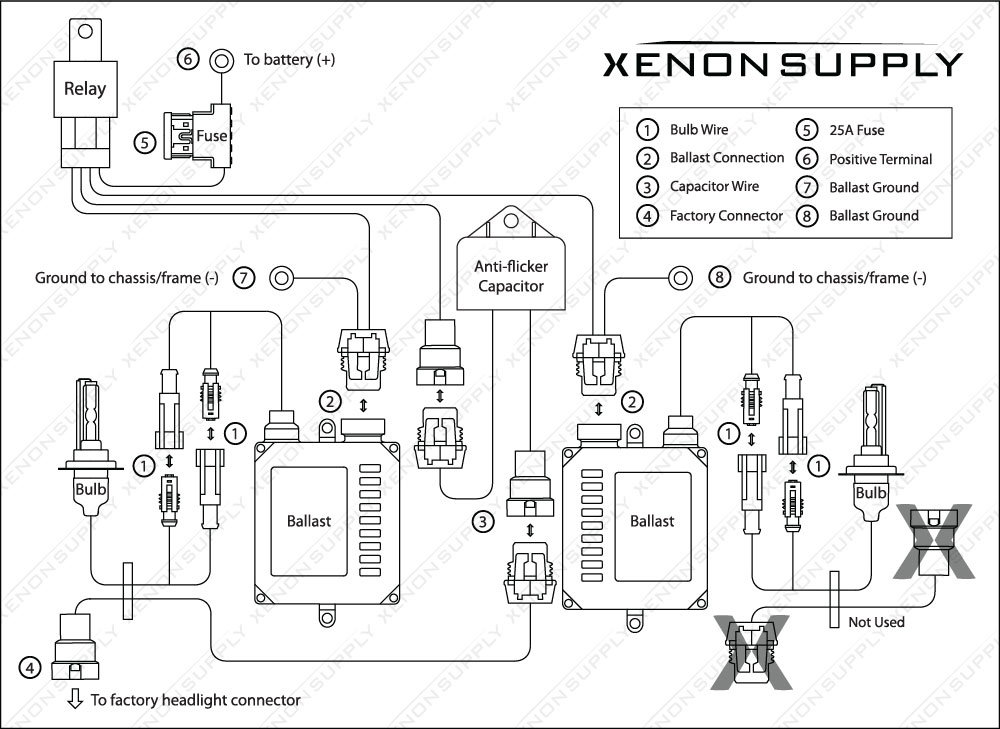 Hid Wiring Diagram With Relay And Capacitor - 1efievudf