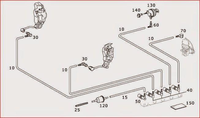 addition mercedes 300d vacuum diagram on mercedes w124 wiring diagram