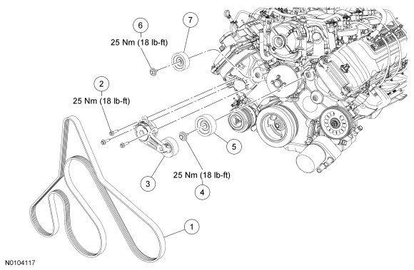 engine belt diagram for 2013 f 150