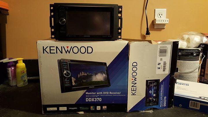 FSKenwood DDX370 headunit radio, Pac OS-2x harness, bracket/trim