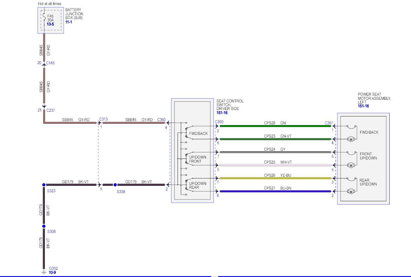 super duty power window wire diagram