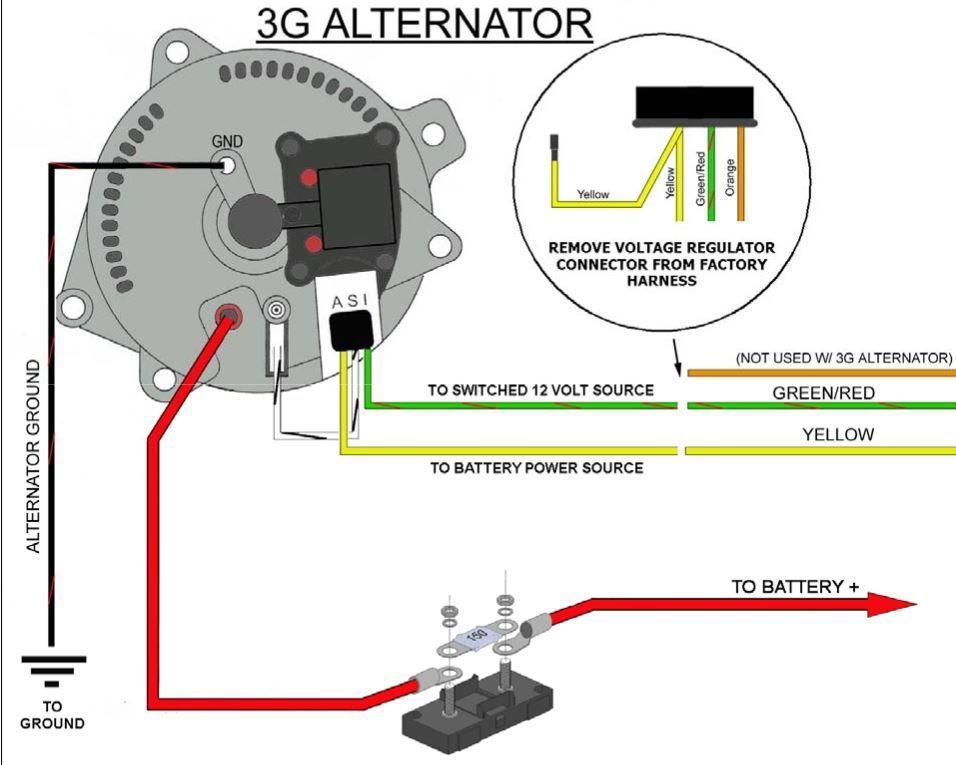 1989 ford alternator wiring