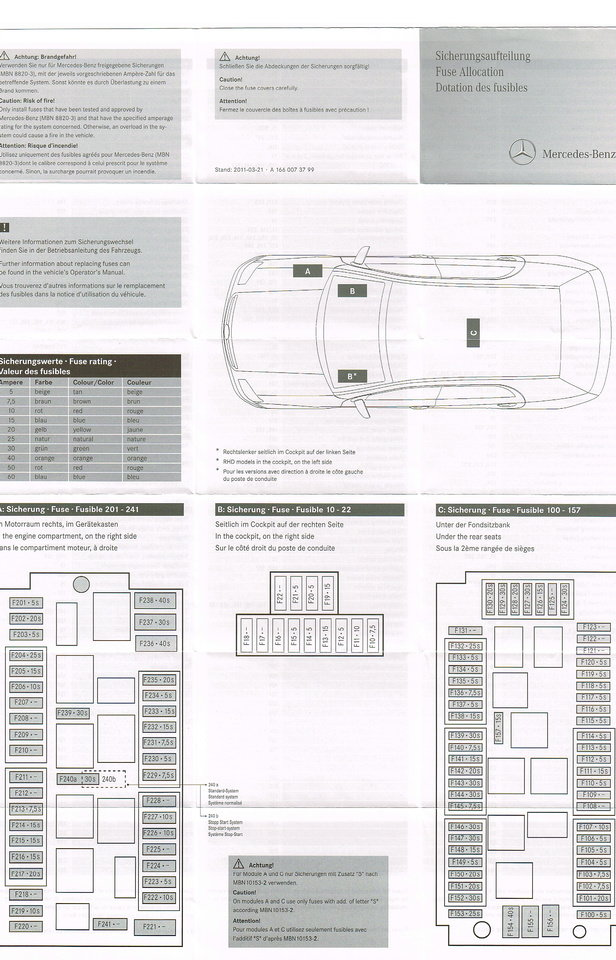 Mercedes Gl Fuse Box Wiring Diagram